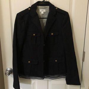 LOFT navy military style wool jacket